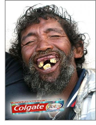 Funny #ads #posters #commercials connected with teeth. Follow us on www.facebook.com/ApReklama for more. Repinned by www.apreklama.pl https://www.instagram.com/arturjanas/ #ads #marketing #creative #poster #advertising #campaign #commercial  #cola #gum #chewinggum  #colgate #toothpaste