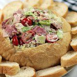 Hoagie Dip - all the ingredients of a sub sandwich in party dip form!