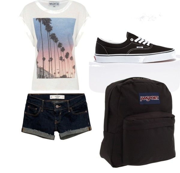 QUICK outfit for school | Schools, Outfit and Shorts