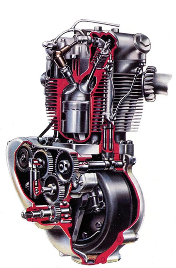 Triumph T110 engine