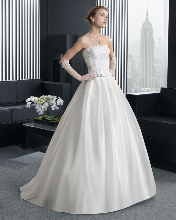 現代の ビスチェ ホール ボールガウン 花嫁のドレス ウェディングドレス Hro0142