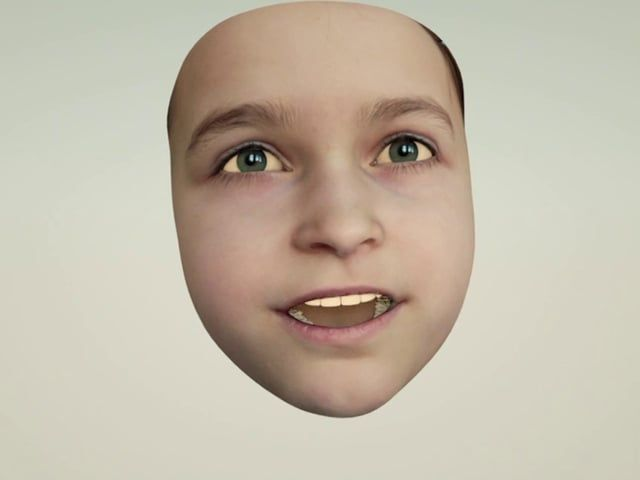 This is the result of a 3d project in my daughter's class. I captured the faces of all the pupils introducing themselves with Faceshift and rendered this movie with Cinema 4d. I didn't have the time to edit the results as much as I would have liked to, so this is pretty much how they came out of Faceshift.