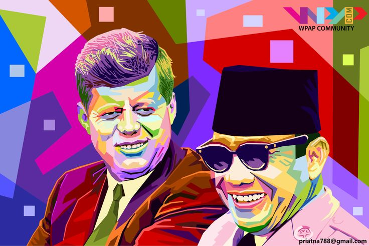 Mr. john f kennedy and Mr. soekarno on wpap