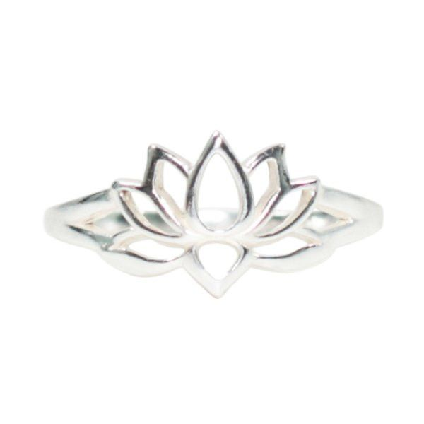 Open Design Lotus Blossom Flower Ring in Sterling Silver, Available in Sizes 6, 7, 8, and 9, #7226