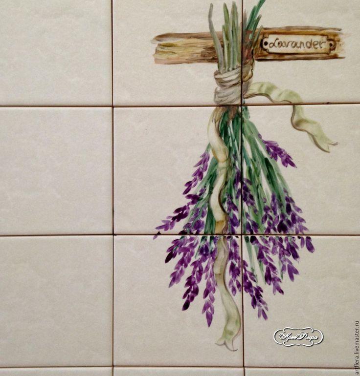 Купить роспись плитки Роспись керамики Фартук для кухни - роспись керамики, Роспись плитки