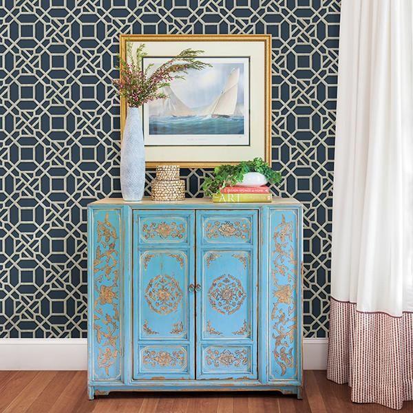 Embracing The Blue Kitchen: Best 25+ Blue Geometric Wallpaper Ideas On Pinterest