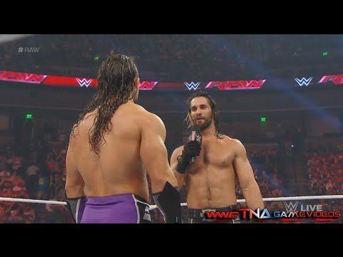 WWE RAW 4/6/15 Adrian Neville vs. Seth Rollins - WWE RAW April 6 2015 - ...