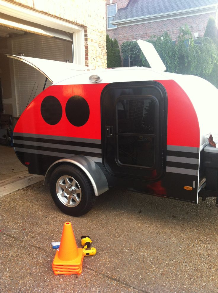 Teardrop Trailer With Bathroom: Custom Vinyl On Our Little Guy Teardrop Camper!