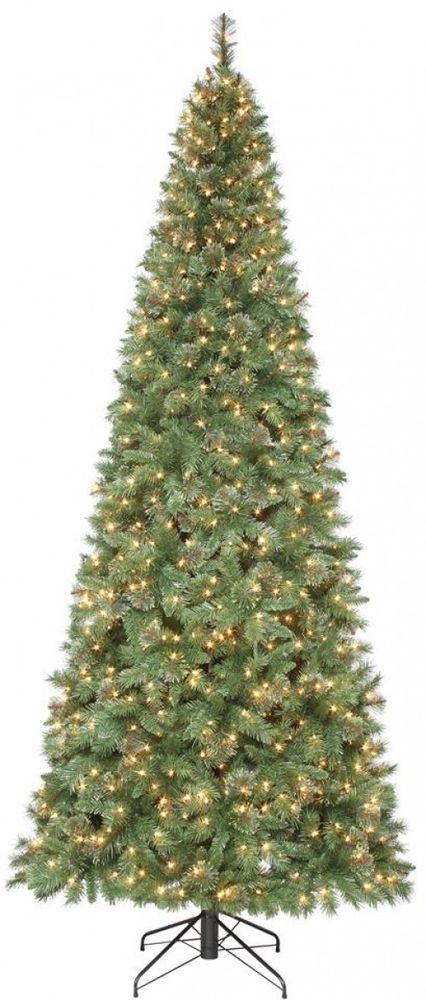 Pre-Lit Artificial Christmas Tree 10 ft. Clear Incandescent Lights  Undecorated - Pre-Lit Artificial Christmas Tree 10 Ft. Clear Incandescent Lights