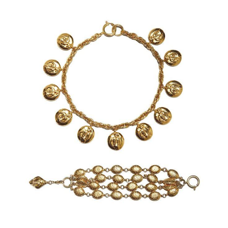 Vintage Chanel necklace & bracelet set by Robert Goossens, c. 1990