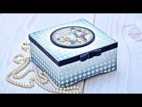 Pudełko z pastą satynową Tutorial DIY