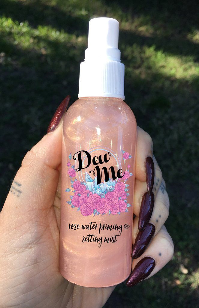 """DEW ME"" Rose Water Priming and Setting Mist (Available in Rose Gold, Bronze, 24 Gold, Platinum, Celestial, etc.)"