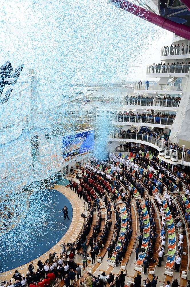 Harmony of the Seas was christened on May 12, 2016 in Southampton, England. Photo courtesy of Royal Caribbean.