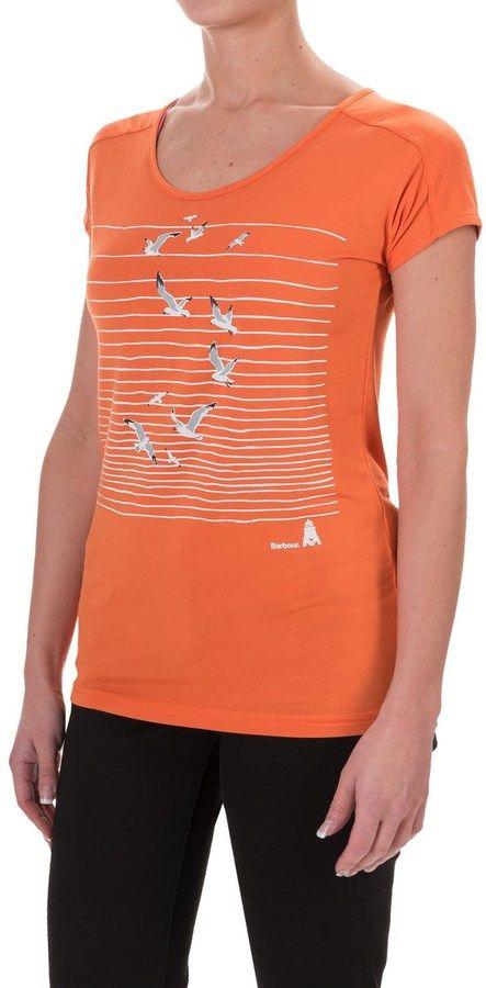Barbour Cotton Scoop Neck T-Shirt - Short Sleeve (For Women)