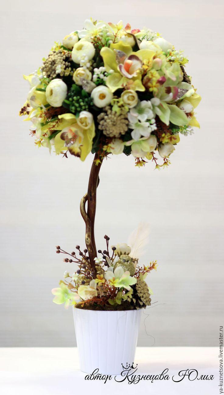 """Купить Топиарий """"Времена года"""" - топиарий, Дерево счастья, флористика, подарок, подарок на любой случай"""