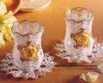 Вязаные корзиночки, чашечки, вазы