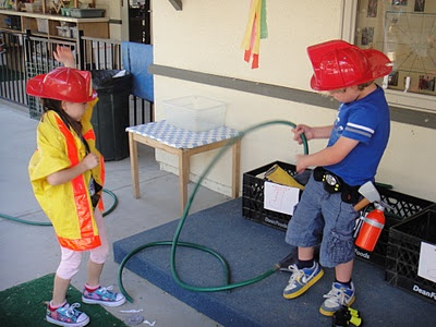 Fire, Fire! - Dramatic Play Outdoors