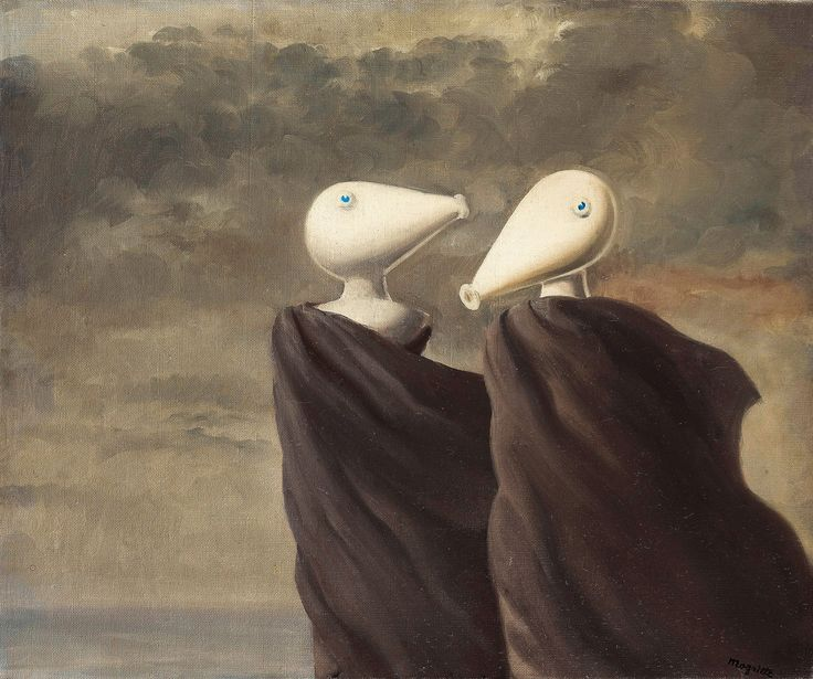 Интимный разговор (1945) (54 х 65 см) (частная коллекция)