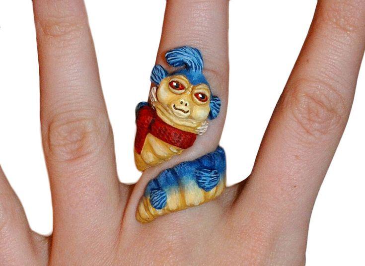 OMG! Hand-made Labyrinth Worm Ring!! I said ELLO!