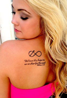 Infinity Anchor Tattoo with Quote