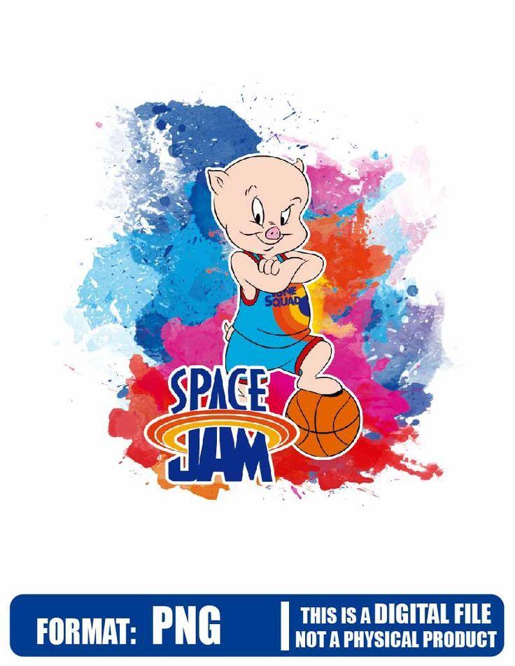 Space Jam Watercolor Porky Space Jam Tune Squad Galaxy Space Jam Tune Squad Space Jam In 2021 Space Jam Tune Squad Squad