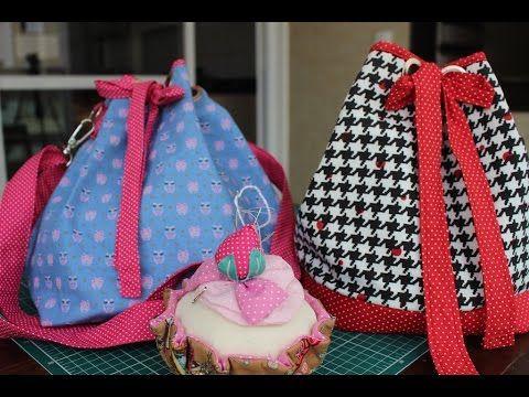 Bolsa sacola em tecidos Melissa - Maria Adna Ateliê - Cursos e aulas de bolsas em tecidos - YouTube