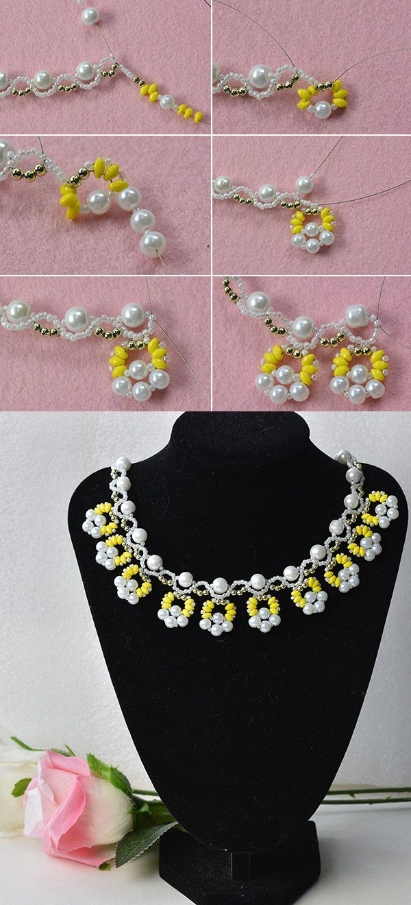 Beaded necklace design, LC.Pandahall.com will publish the tutorial soon.