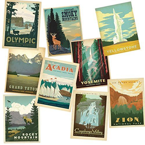 Top 10 National Parks Vinyl Sticker Set. Great fun and unique Mother's Day gift…