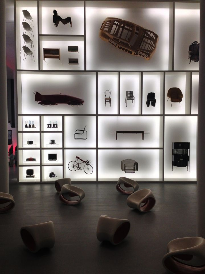 Audi design wall at Pinakothek der Moderne Munich Germany