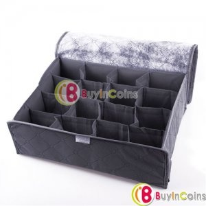 16 Cell Case Bamboo Charcoal Organizer Drawer Closet Underwear Scarf Storage Box - BuyinCoins.com