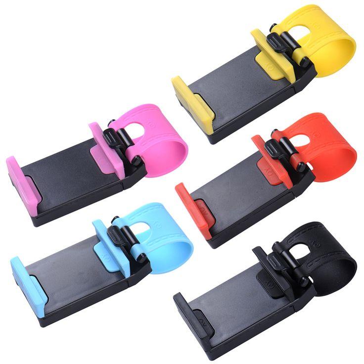 Универсальный Рулевого Колеса Автомобиля Держатель Мобильного Телефона, кронштейн для iPhone 4S 5 6 плюс Samsung Galaxy S4 S5 S6 Примечание 3 4 Смартфон