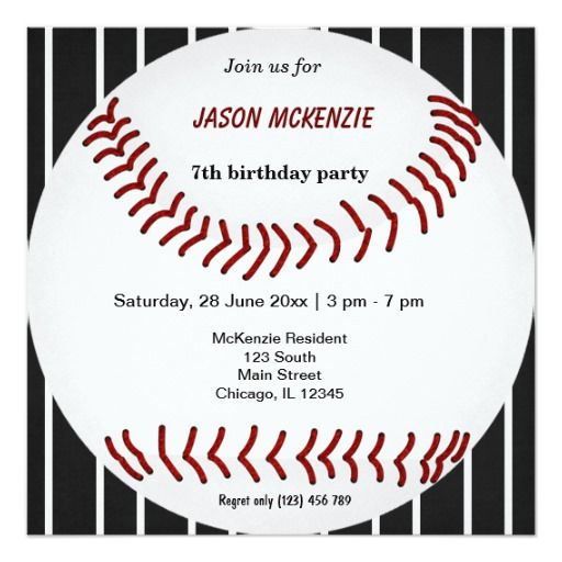 428 besten Baseball Birthday Party Invitations Bilder auf Pinterest