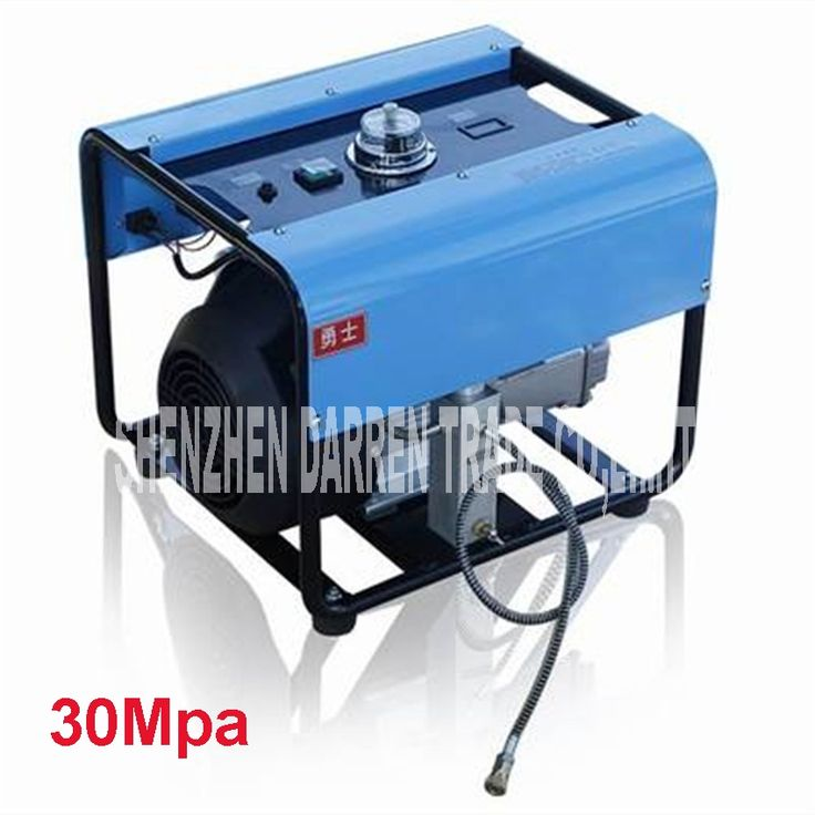 690.90$  Buy now - http://alidnz.worldwells.pw/go.php?t=32775517820 - 30MPa  High Pressure Pump Electric Air Compressor Air D'auto stop inflator 220 V 2.2KW stainless steel  electric inflator
