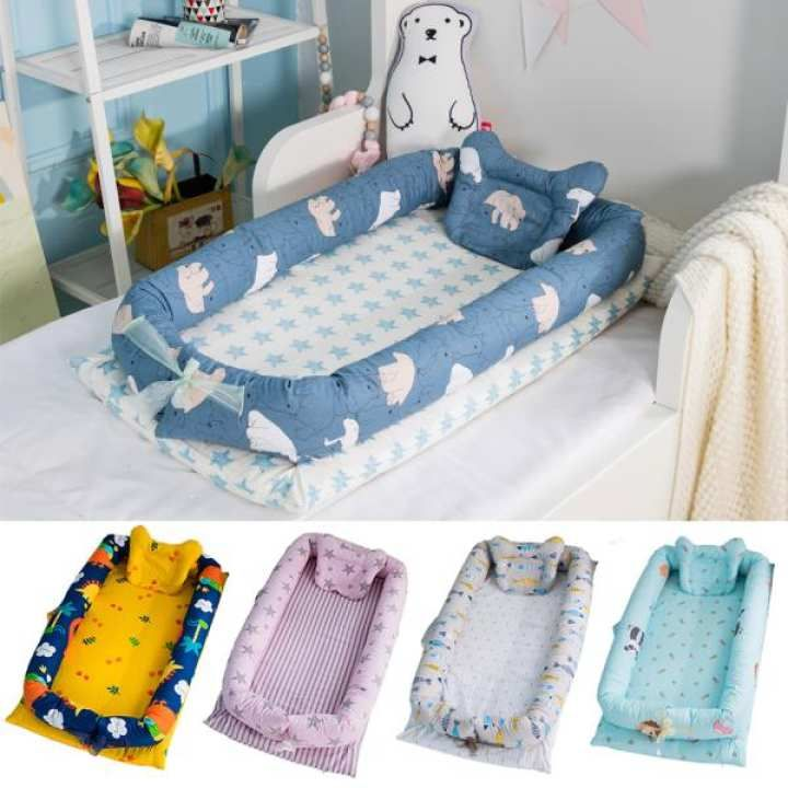 0444a7dde08 Infant Pretty Detachable Simulating Sleep Nest Baby Portable Travelling Cushion  Bed Set Detachable Washable