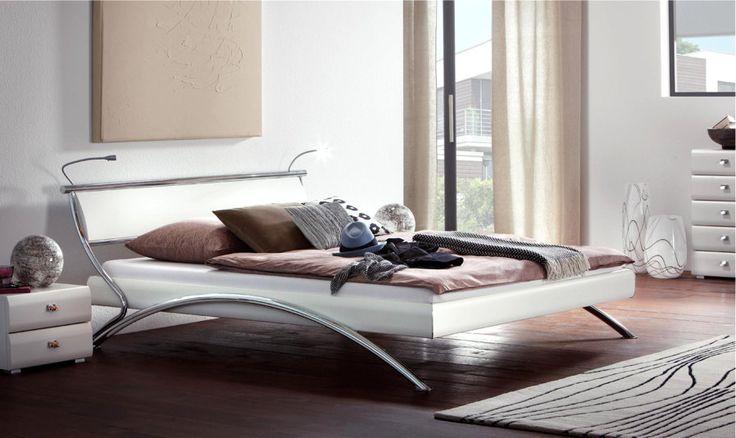 Bett HASENA SOFT-LINE Noble Assisi Support weiß Bettgestell, Doppelbett - Wunderschöne Schlafzimmermöbel