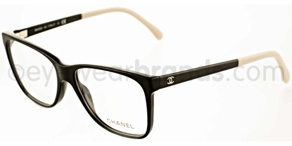 Chanel CH 3230 Chanel CH3230 1333 Black/Cream Chanel Designer Glasses Glasses From Eyewearbrands