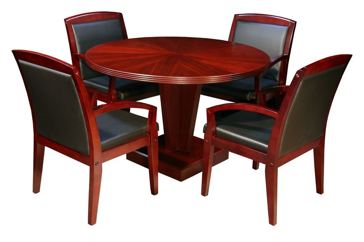 New and Used Hollywood New 42 Inch Mahogany Inlay Round Conference Table