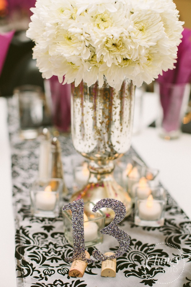 Colorful Damask Wedding Theme Motif Wedding Dress Inspiration
