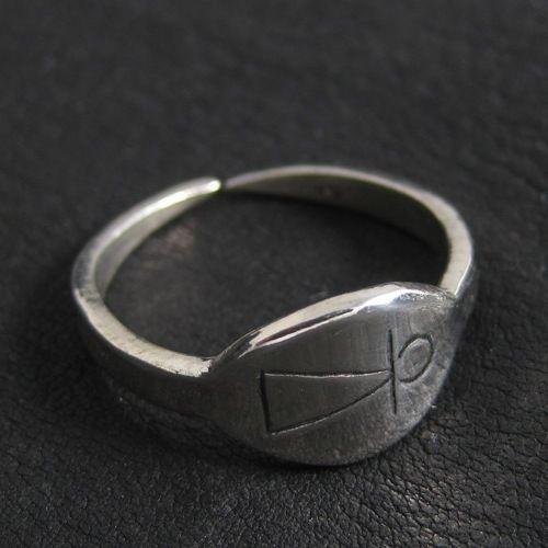 Silver Phoenician Tanit goddess ring. Reenactment. Ancient. Carthage. Goddess.