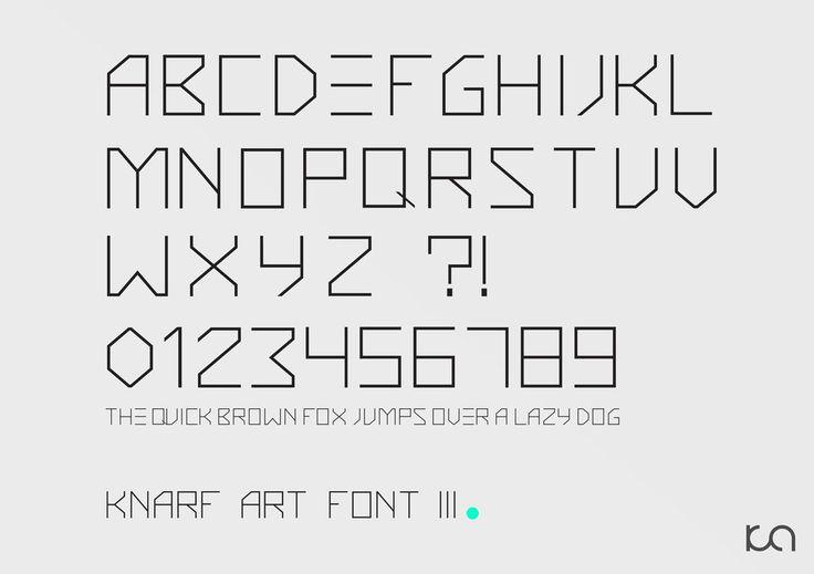 """""""Knarf Art"""" Font 3"""