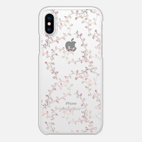 Casetify iPhone X スナップケース - Tropical Christmas Aussie Xmas Transparent Hot Weather Christmas Flamingo Santa Sleigh Gingerbread Candies Candy Cane Ice Skating by Frou Frou Craft