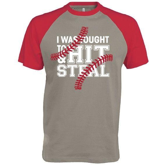 Honkbal t-shirt Hit and Steal bij vanSHIRTJEtotSHIRTJE
