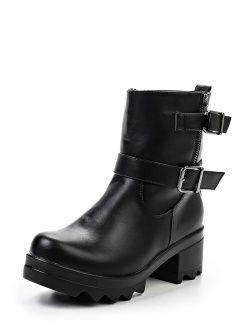 Полусапоги Catherine, цвет: черный. Артикул: CA073AWGOG59. Женская обувь / Сапоги / Полусапоги