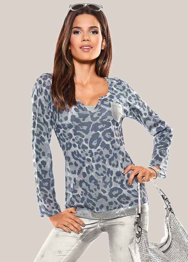 Heine Animal Print 2-Piece Top - Super cute long sleeved top >https://api.shopstyle.com/action/apiVisitRetailer?id=505323617&pid=uid8025-34776805-65&site=www.shopstyle.co.uk