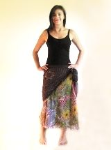 How to wear a magic skirt (two layered tie-on skirt, made of recycled sari silk)