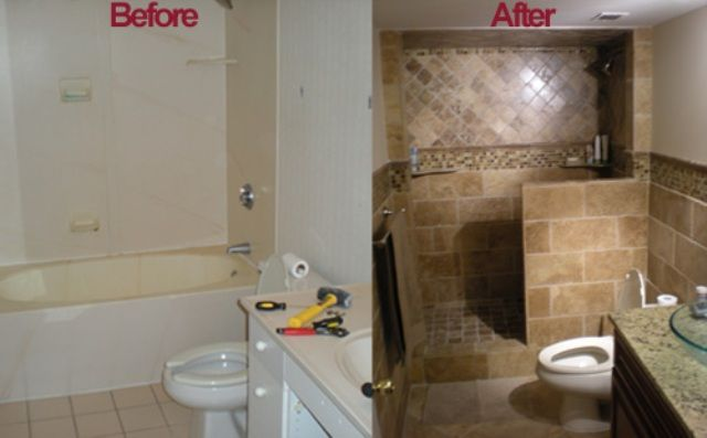 Cool bathroom remodel ideas before and after for your for Kitchen bathroom renovations