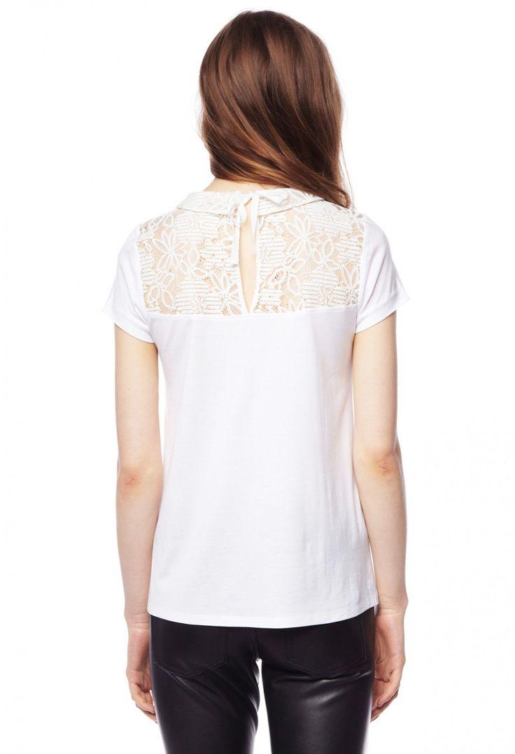 T-shirt TRICHEUSE VANILLE - T-shirt Femme - Claudie Pierlot