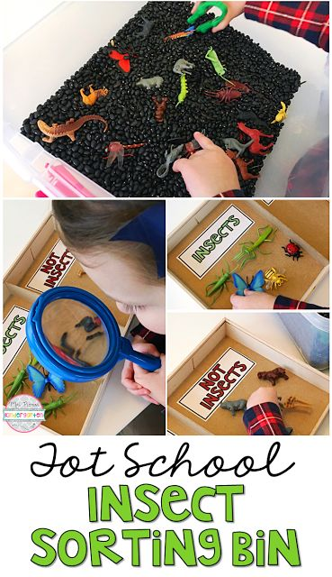 We loved exploring this insect themed sensory bin perfect for tot school, preschool, or kindergarten.