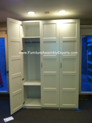 ikea pax wardrobe with 3 doors assembled in Washington DC by Furniture assembly Experts Company