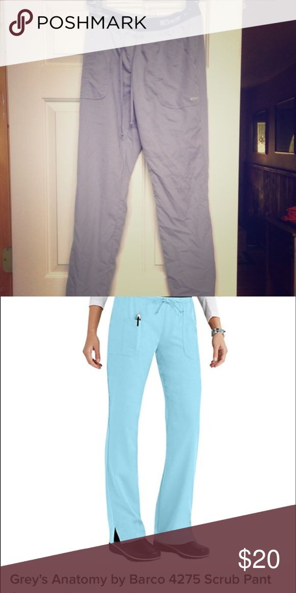Greys anatomy scrub pants super cute with the top black band, they fit on the smaller side compared to the regular Grey's Anatomy scrubs I bought them from a posher. Great condition. Like new.  No tags. **** color  is in the first pic---second pic is too show fit*** Greys anatomy Pants